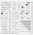 set of interface navigation buttons sliders vector image