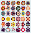 set of mandala round ornament pattern vector image vector image