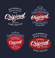 set original hand written lettering for label vector image vector image