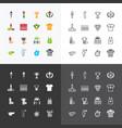 sport icons color flat line design set vector image