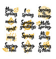 spring hand drawn quotes vector image vector image