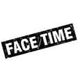 square grunge black face time stamp vector image vector image