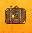 Suitcase Cartoon vector image