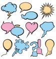 talking bubbles set vector image vector image