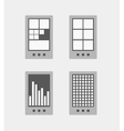 Tile mobile phone interface template collection vector image