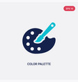 two color color palette icon from creative pocess vector image vector image