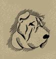 Vintage Dog vector image