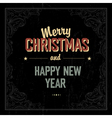Vintage merry Christmas design vector image