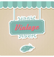 Vintage retro insignia stamp label badge vector image
