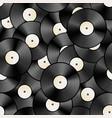 vintage vinyl discs retro seamless pattern vector image