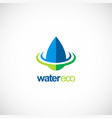 water drop ecology bio logo vector image vector image