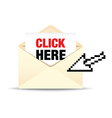 open envelope click here vector image
