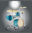 realistic drum kit background 2 vector image
