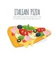 Italian pizza slice vector image