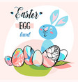hand drawn abstract creative cute easter vector image
