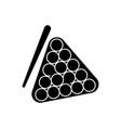 billiards icon black sign on vector image