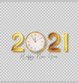 2021 happy new year symbol vector image vector image