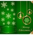 Abstart cyan blue Christmas Invitation Card vector image vector image