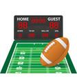american football sports digital scoreboard vector image vector image