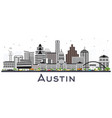 austin texas city skyline with gray buildings vector image vector image