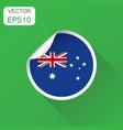 australia sticker flag icon business concept vector image