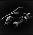 auto repair design vector image vector image