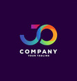 awesome letter gradient logo design vector image vector image