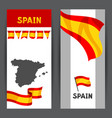 banners with flag and map of spain vector image