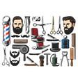 barbershop haircut and shave tools