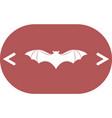 bat silhouette icon vector image vector image