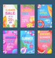 best offer sweet summer set vector image vector image