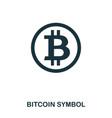 bitcoin symbol icon mobile app printing web vector image
