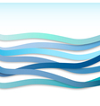 blue wavy stripes vector image