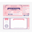 Boarding Pass Wedding Invitation Template vector image vector image