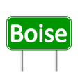 Boise green road sign vector image vector image