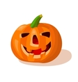 cartoon halloween creepy pumpkin vector image vector image