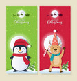 christmas background with santa claus and merry vector image