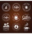 coffee label2 vector image vector image