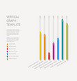 column vertical graph template vector image vector image