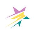 corporate business star logo design icon concept vector image vector image