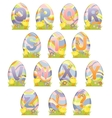 Cute Easter alphabet vector image
