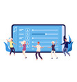 dance perfomance concept flat dancers and online vector image vector image
