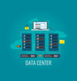 data center cloud technologies concept computer vector image