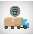 delivery truck concept transportation icon vector image