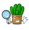 detective character spurge cactus home decor vector image vector image