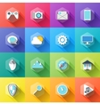 different icons in flat style with soft long vector image