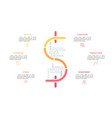 dollar sign consisted multicolored lines and vector image vector image