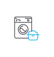 dust removal linear icon concept dust removal vector image