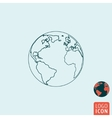 Earth icon isolated vector image vector image