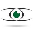 eye logo icon vision concept vector image vector image